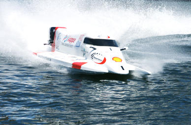 Formel 1 Powerboot Race Taxi in Schleswig-Holstein