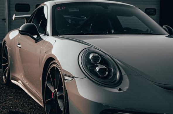 Porsche fahren Rennstrecke in Hockenheim