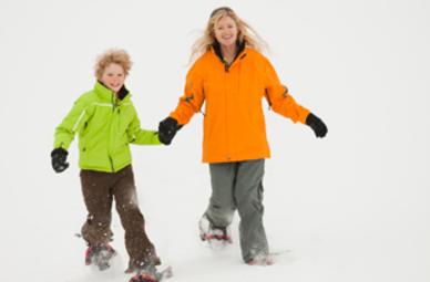 Familien Schneeschuh-Abenteuer