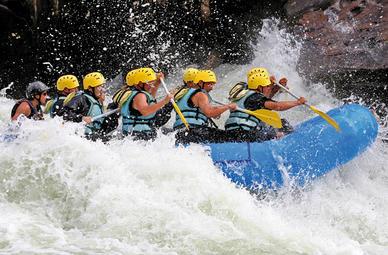 Outdoor-Kombi Rafting und Canyoning in Häselgehr
