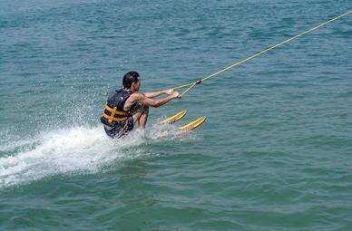 Wasserski Am Boot